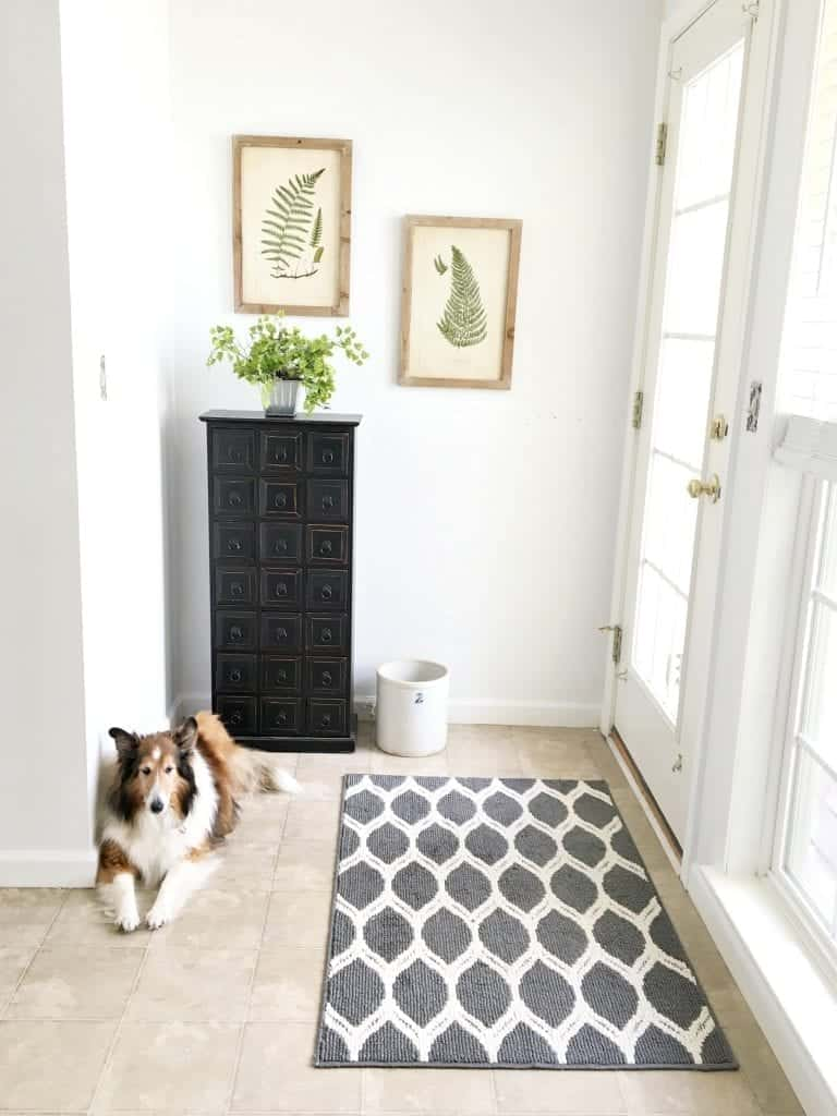 Mini Mudroom Makeover After