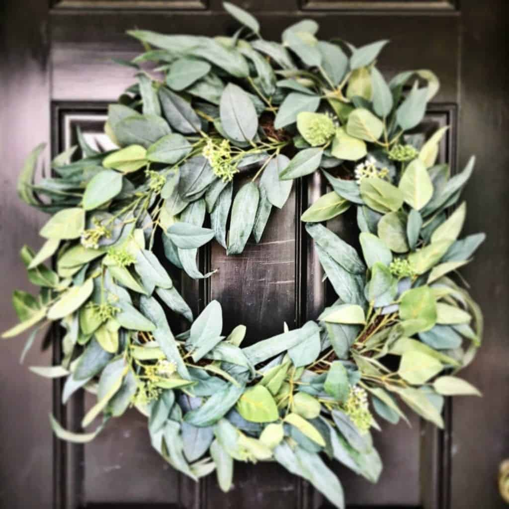 Front Porch Elements Target Eucalyptus Wreath