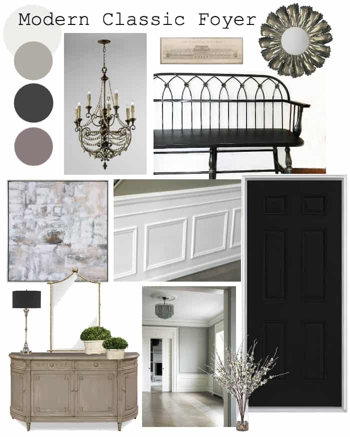Modern Classic Foyer Design Plan