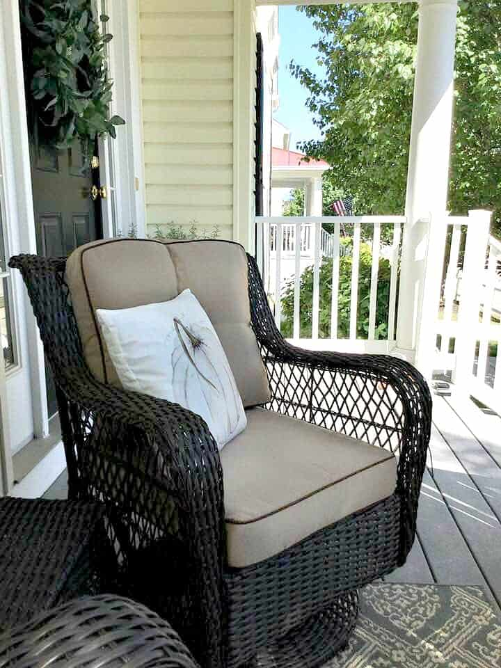 Nod to fall front porch tour picture of new chairs