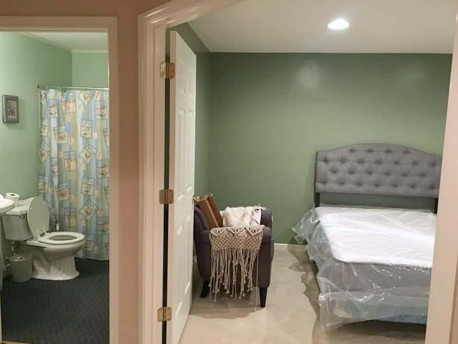 One Room Challenge Peek at Ugly Bathroom