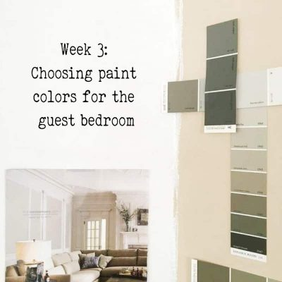 Week 3: $155 Left and Choosing Paint Colors