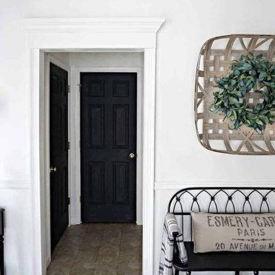 Entryway REVEAL! What a difference millwork makes