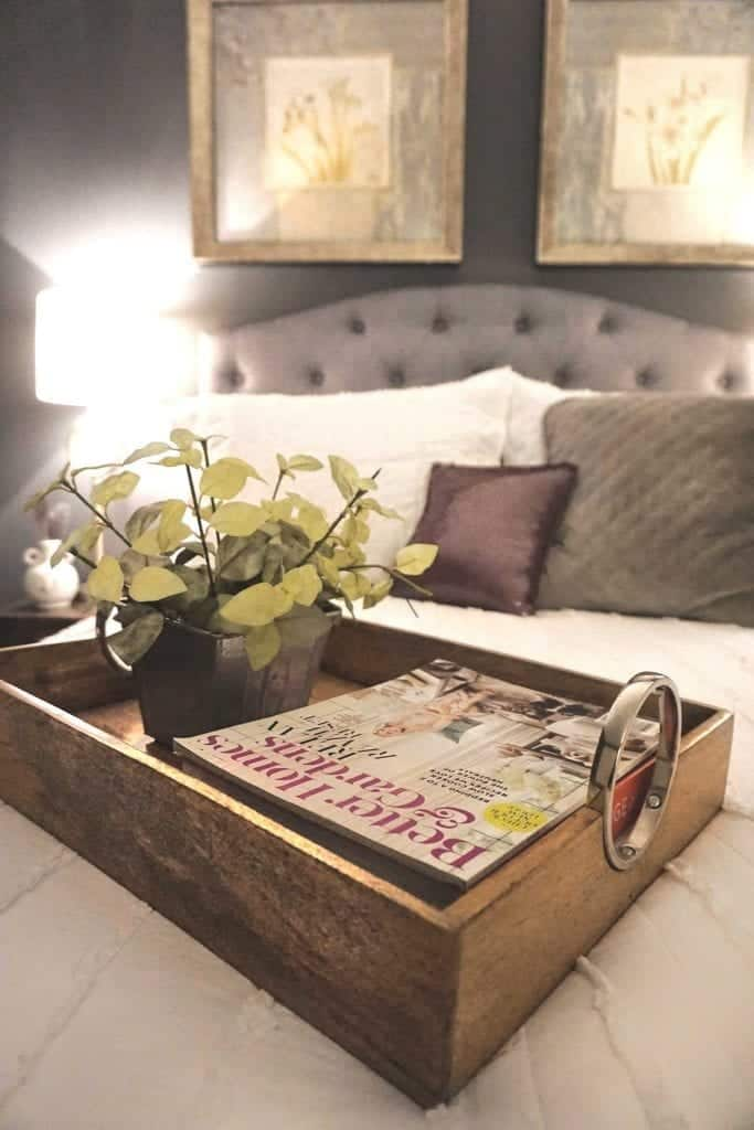 Guest Bedroom Reveal Up Close of Tray BHG Magazine-2