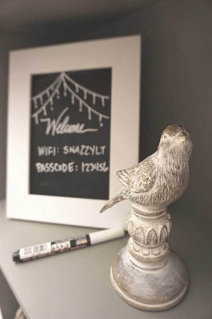 Guest Bedroom Reveal Wifi Chalkboard Sign-2