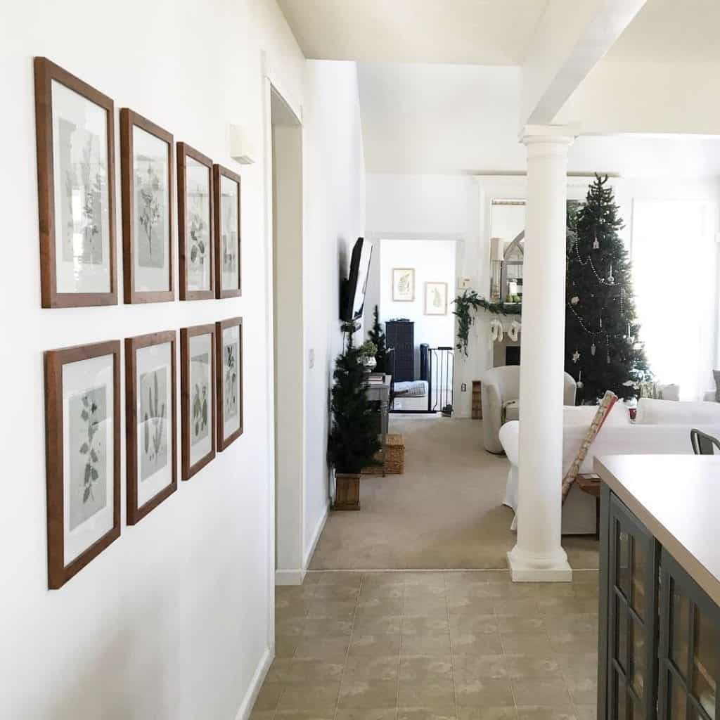 Simply White Paint by Benjamin Moore Family Room Update