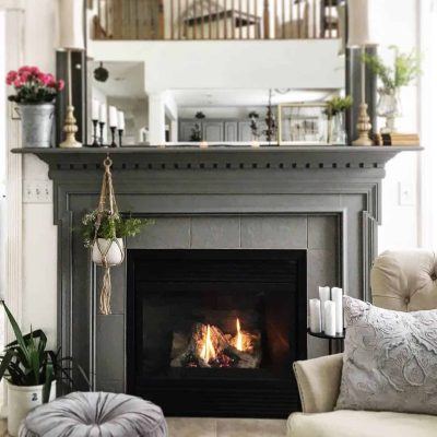 Dark Moody Mantel Makeover by Snazzy Little Things
