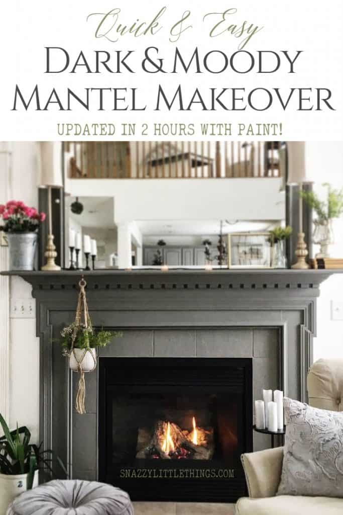 Mantel Makeover With Paint