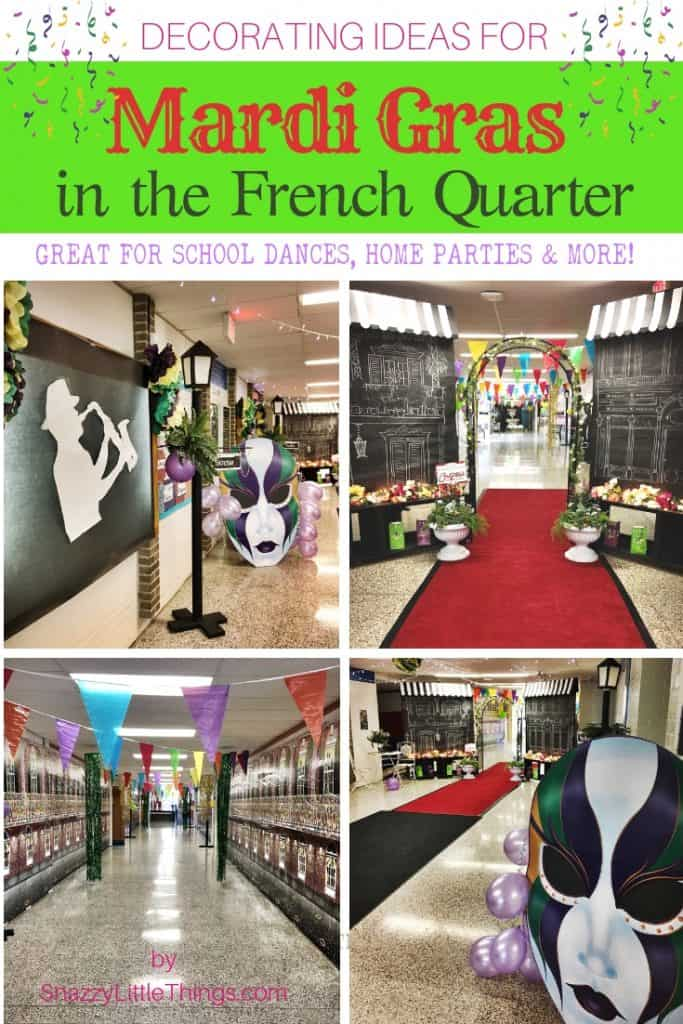 Mardi Gras in the French Quarter Decorating Ideas by Snazzy Little Things