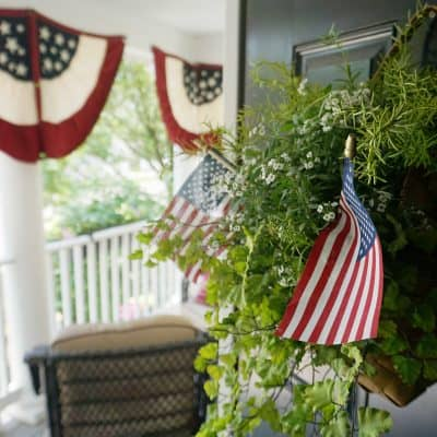 Patriotic Front Porch with Americana Buntings