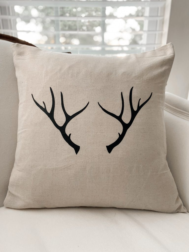 Anter Pillow Cover Linen pillow with Cricut Easypress