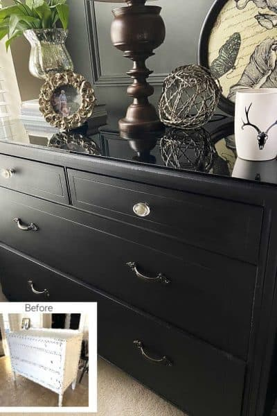 Designer Night Stand Knock Off Before and After