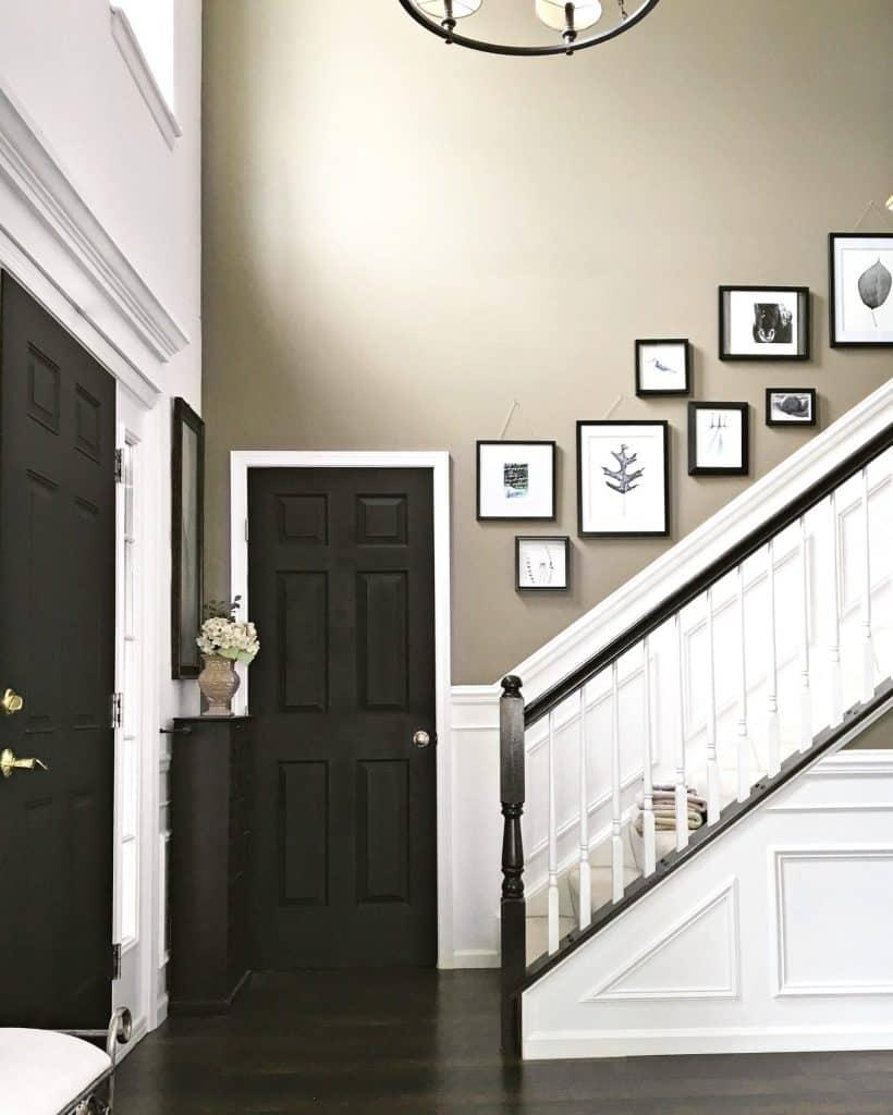 black interior doors