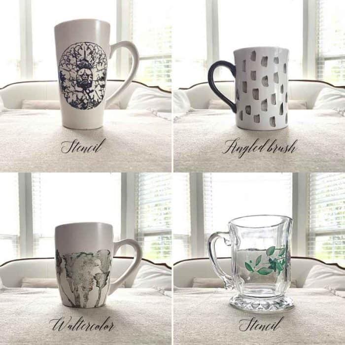 4 DIY Painted Mug Designs