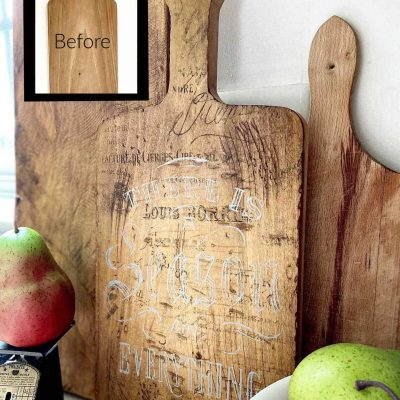 Old-World Style Cutting Board Makeover (Video!)