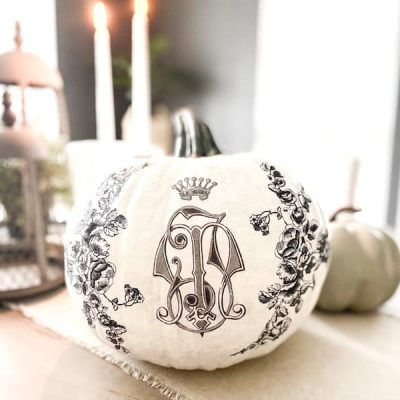 DIY Painted Pumpkin Ideas (with decoupage)