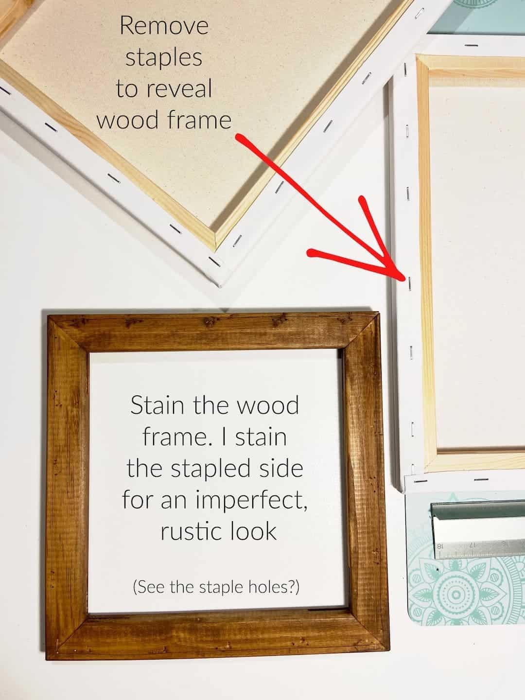 DIY Reverse Canvas Instructions by Snazzy Little Things