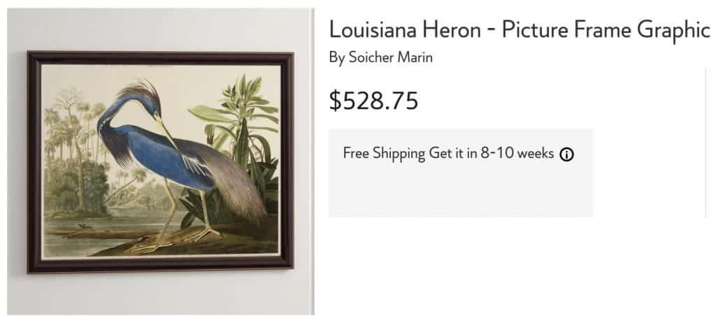 Designer Version Blue Heron Art