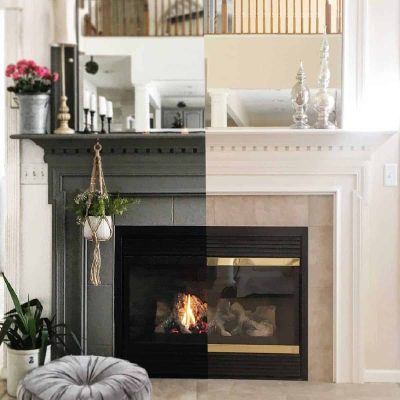 Dark + Moody Mantel Makeover