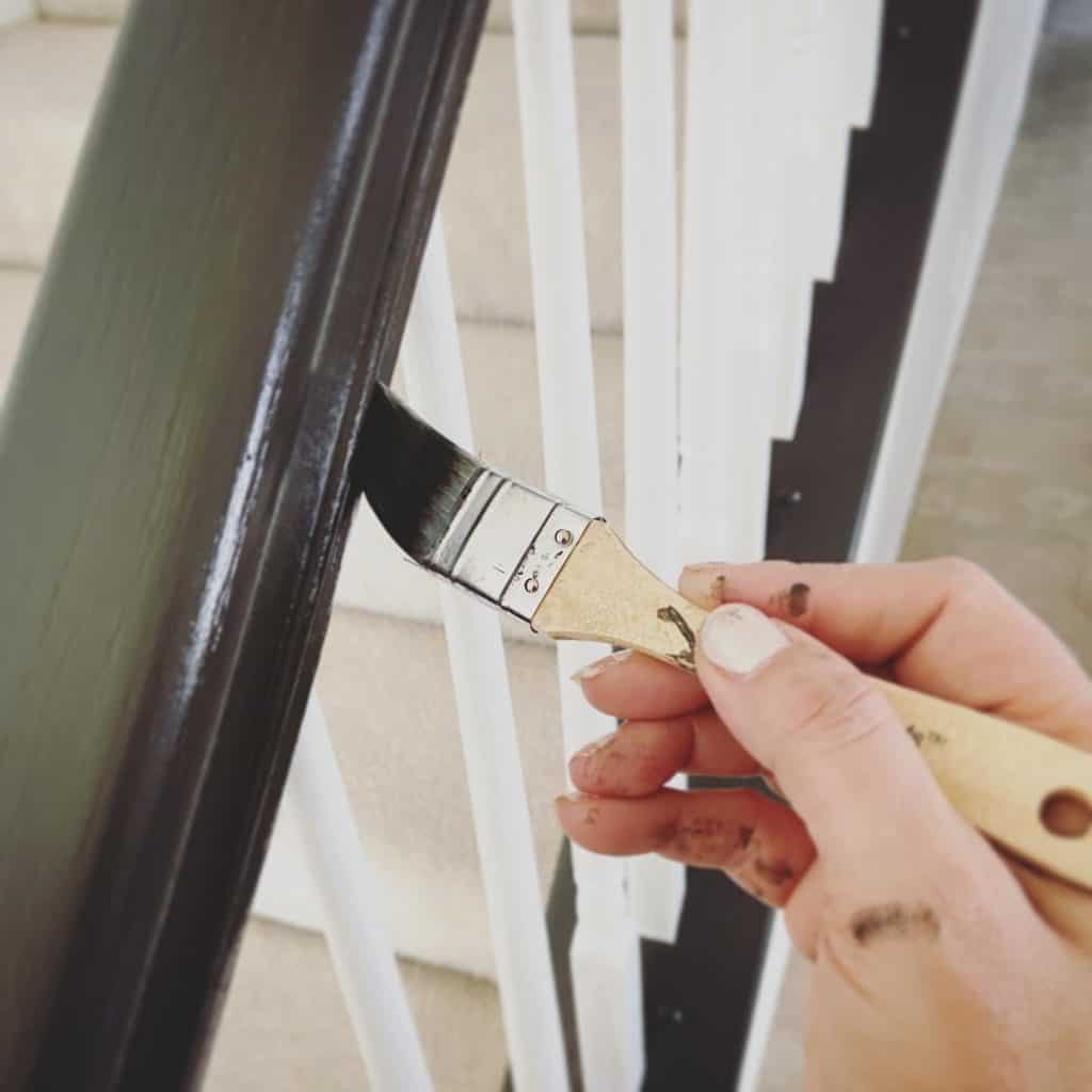 Stair railing makeover tips