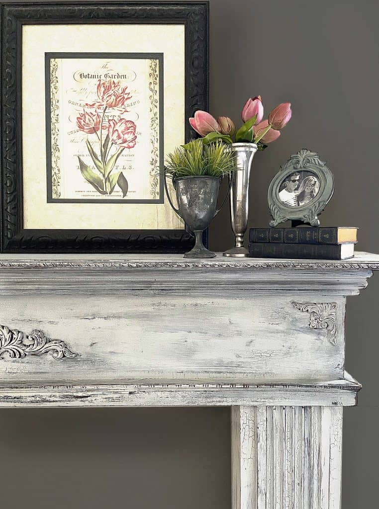 Milk Paint Basics Chippy Vintage Style Mantel