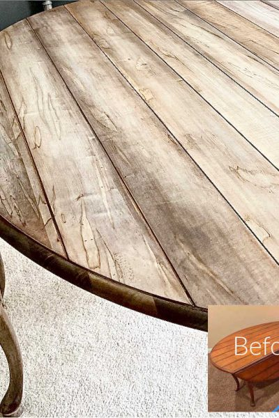 Spalted Cherry Table Makeover with Reactive Stain
