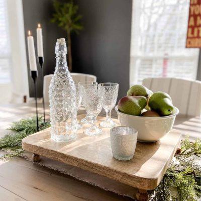 Winter Tablescape Juniper Pear