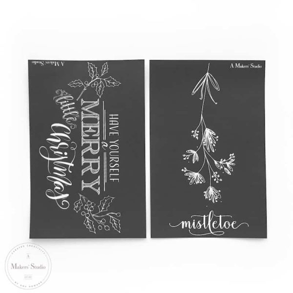 pack of 2 holiday mesh stencils