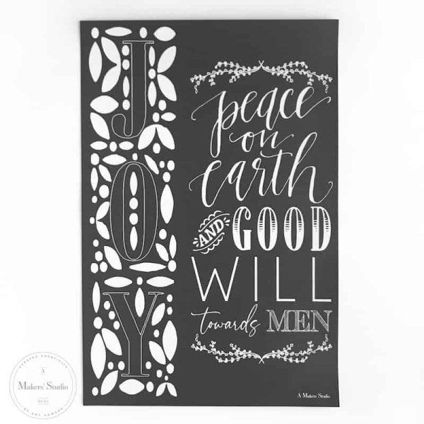 Peace on Earth Mesh Stencil